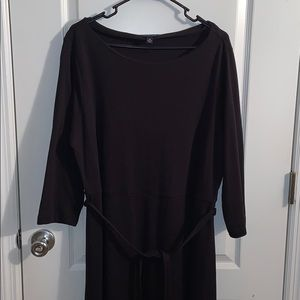 Land's End black long sleeve maxi dress size 1X